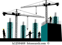 Construction site Clipart and Stock Illustrations. 7,888.