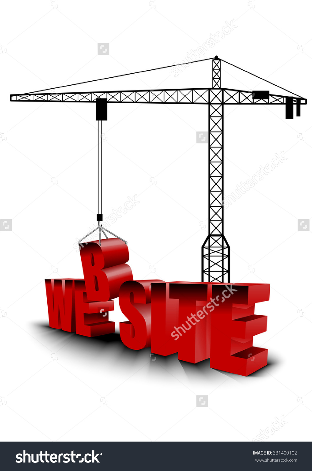 Construction Site Crane Building Background Vector Stock Vector.