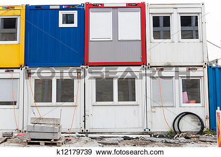 Stock Photograph of container on construction site k12179739.