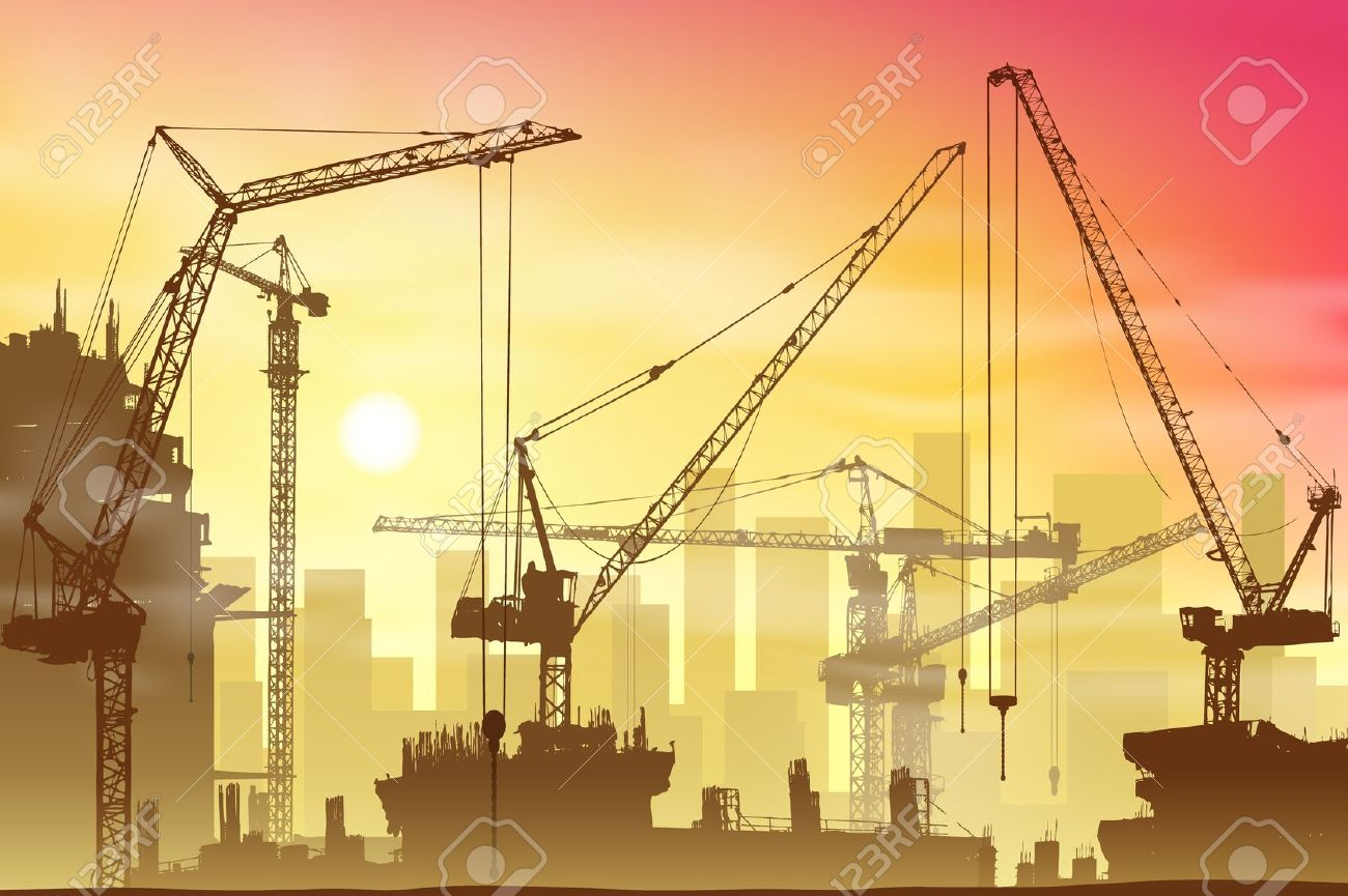 Construction site background clipart.