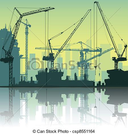 EPS Vector of Tower Cranes.
