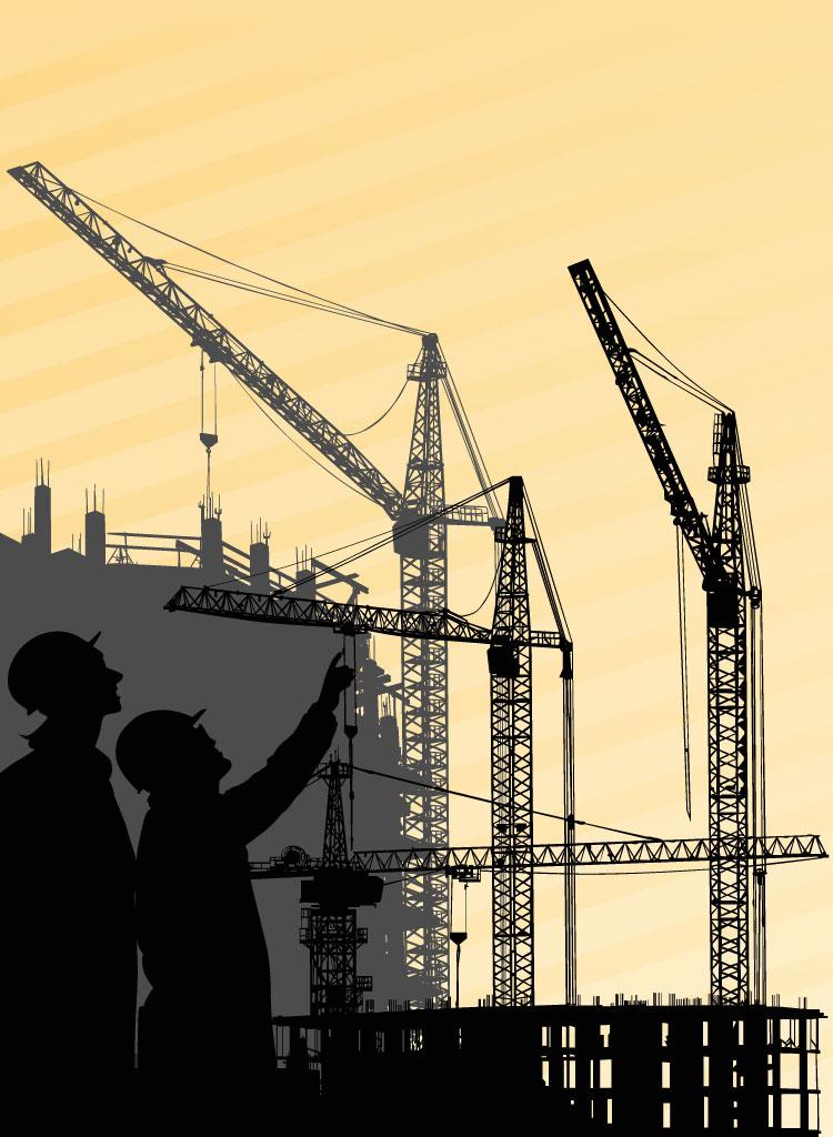 Building Crane Vector.