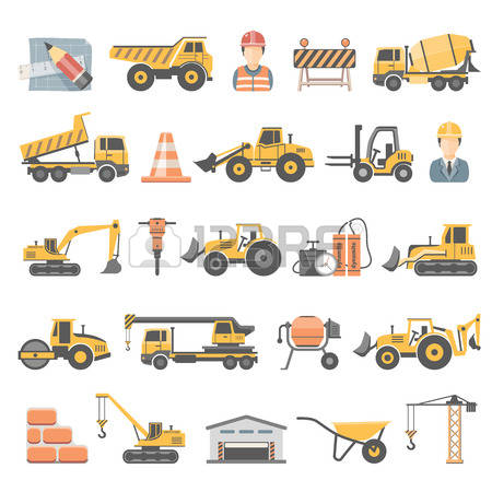 7,358 Construction Excavator Stock Vector Illustration And Royalty.