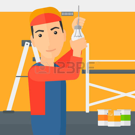 129 Electrician Lighting Stock Vector Illustration And Royalty.