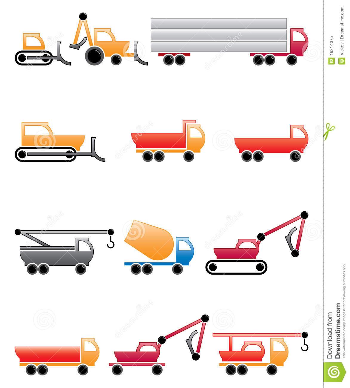 Construction Vehicles Royalty Free Stock Photo.