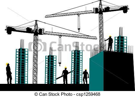 Construction site clip art.