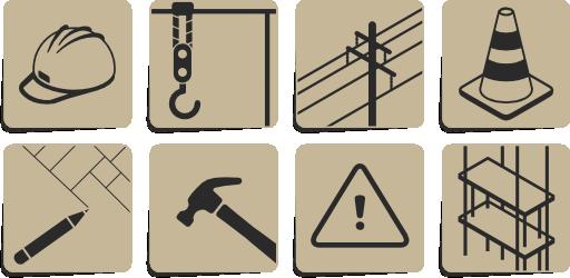 Construction Symbols Clipart.