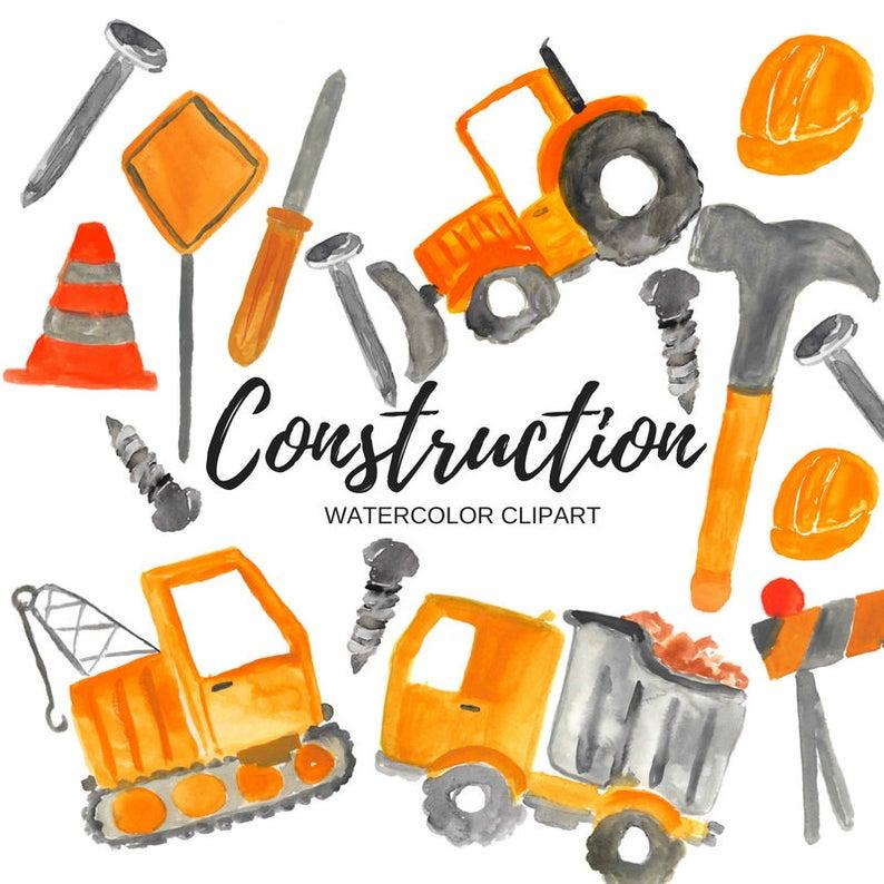 Construction clipart.