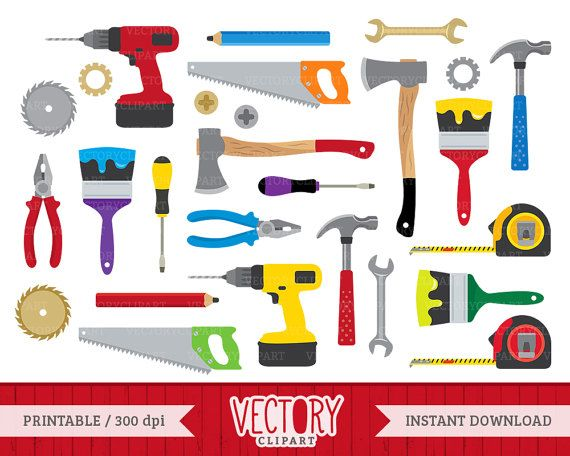 Tools Clipart Set Hardware Clipart Construction Tools Clip.