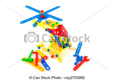Stock Photo of Construction toys.