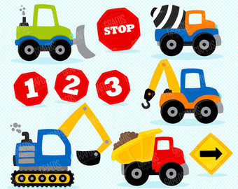 Construction Vehicles Clipart.