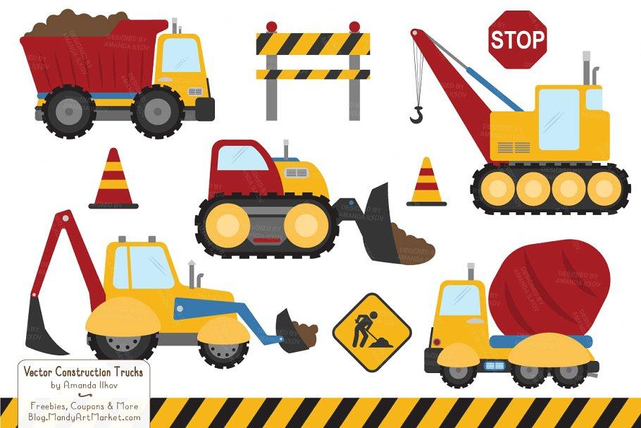 Crayon Box Boy Construction Trucks.