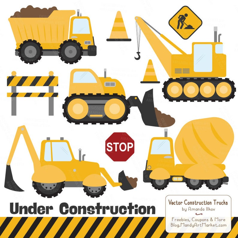 Premium Yellow Construction Clipart.