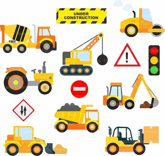 Construction Clipart, Clipart Construction, Trucks, Forklift svg, Skid  Loader svg, Commercial Use, Clipart Instant download, SVG, SVG Files.