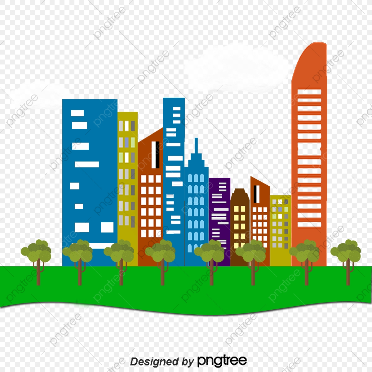 Building And Green Building Construction, Building Vector, Green.