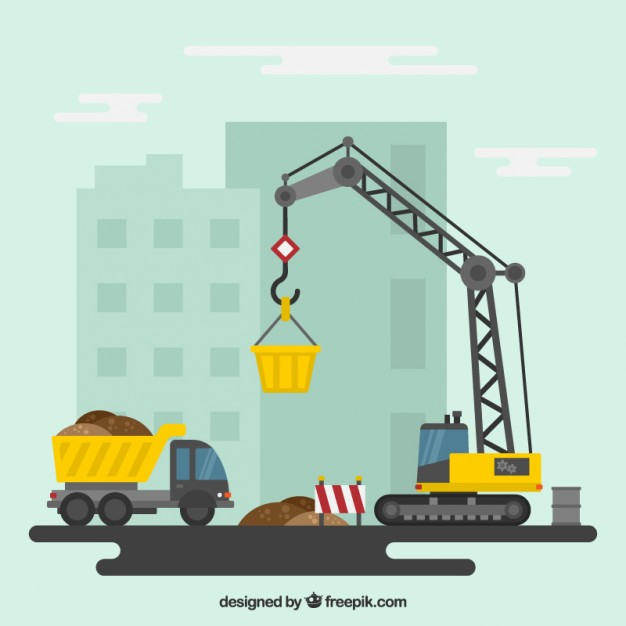 Construction site Vector.
