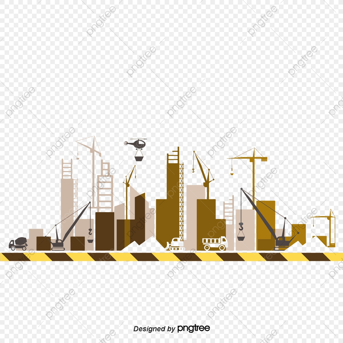 Vector Illustration Construction Site, Construction Vector, Vector.