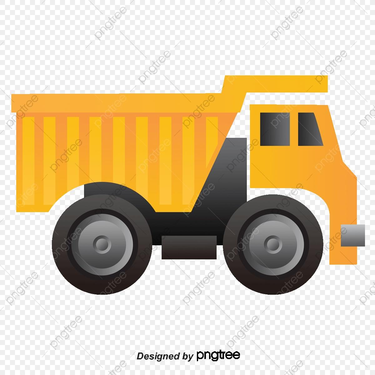 Muck Truck Yellow Construction Vehicles, Truck Vector, Construction.