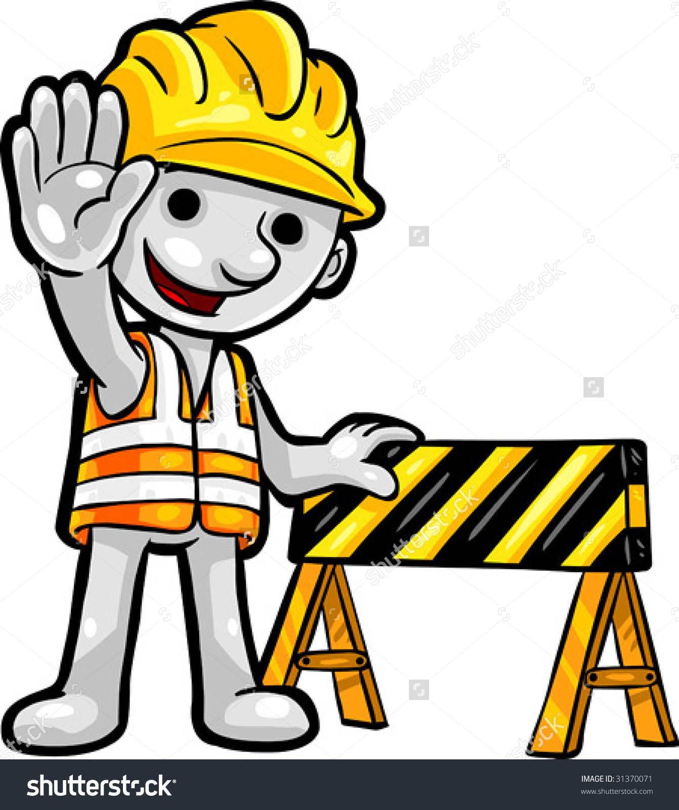 Vector Clip Art Illustration Smartoon Construction Stock Vector.