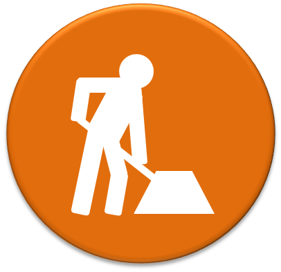 Work Icon Construction road work icon #4451.