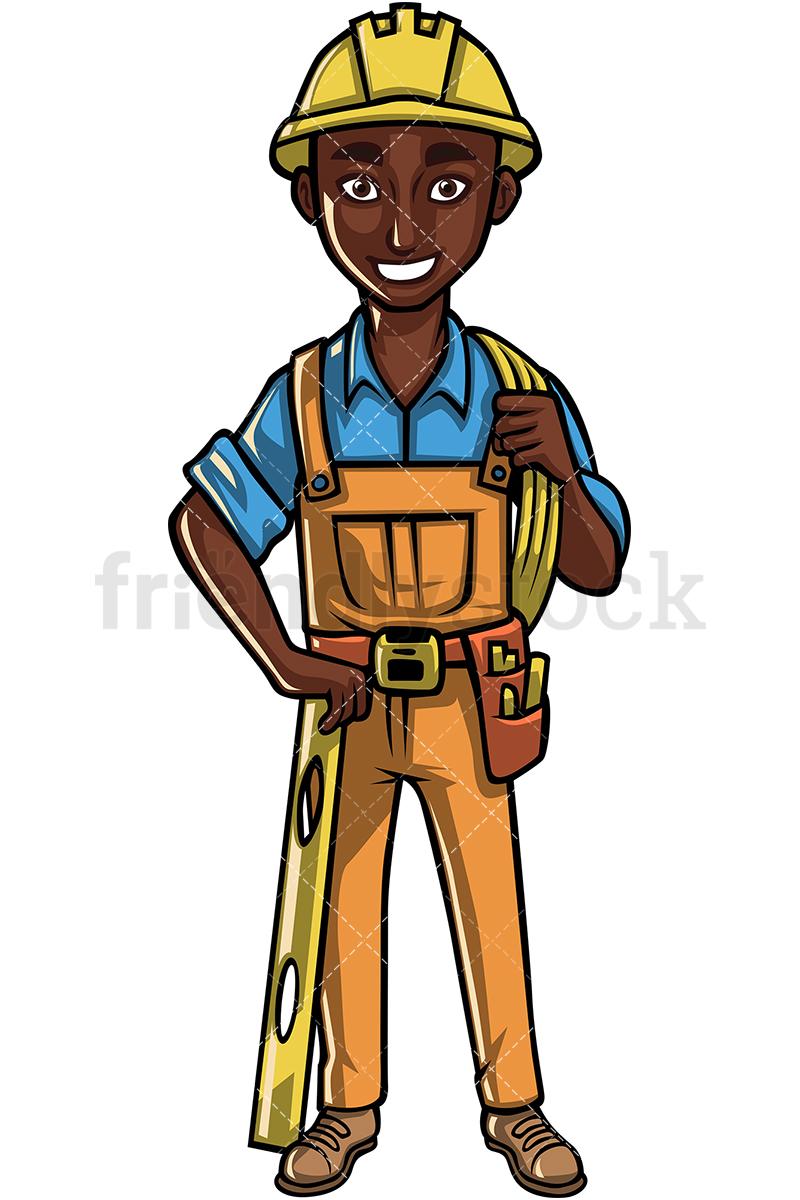 Black Construction Worker.