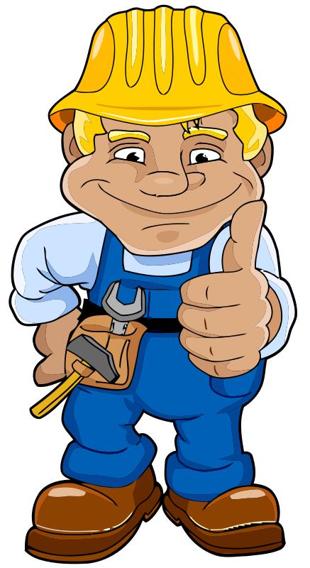 Cartoon Construction Workers.