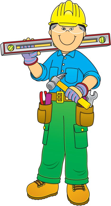Construction Worker Free Clipart #1.