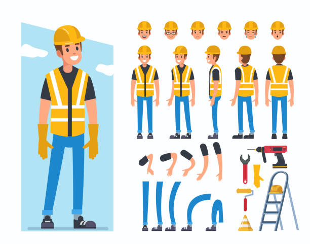 Best Construction Worker Illustrations, Royalty.