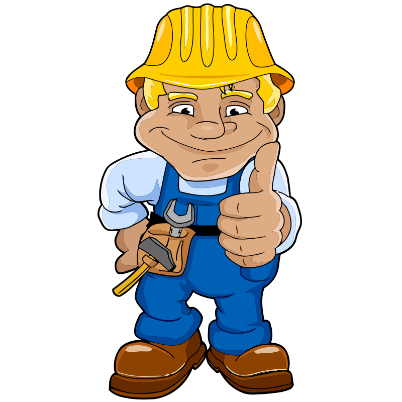 Construction worker clipart no background.