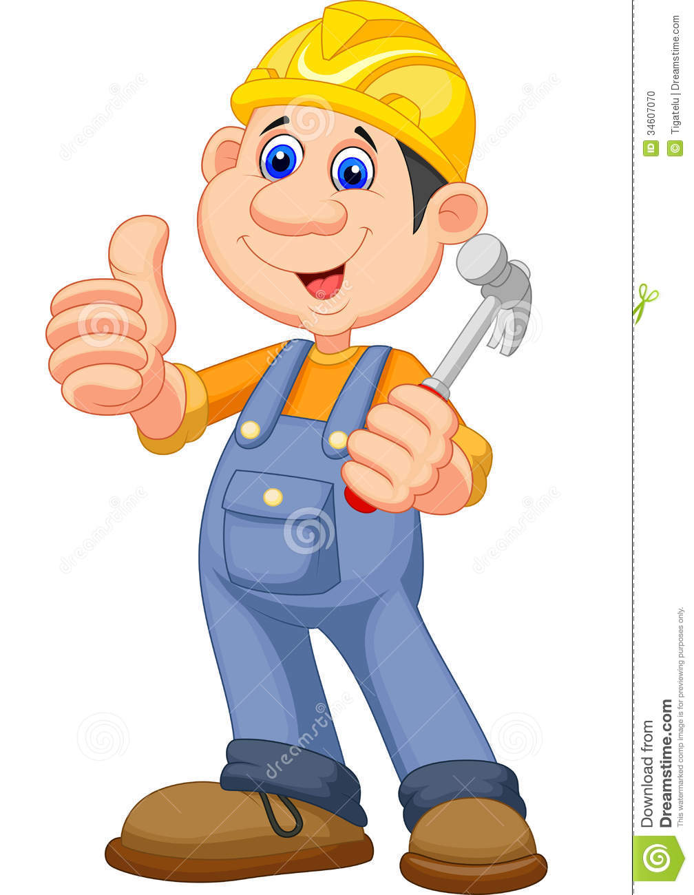 Animated construction worker clipart.