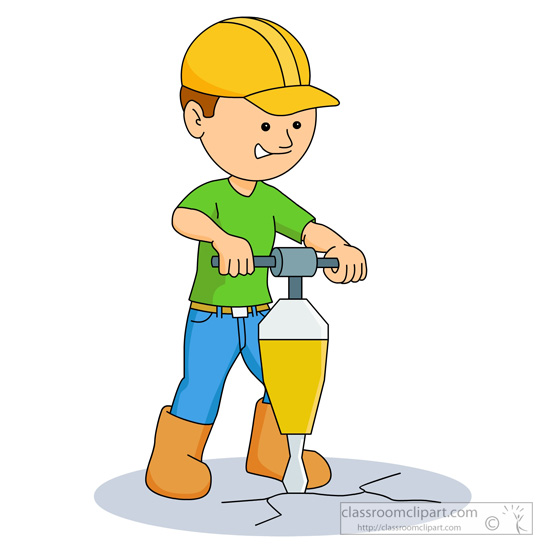 Kid Construction Worker Clipart.