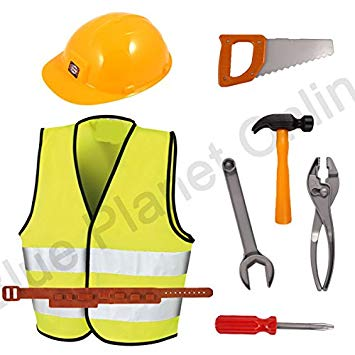 Blue Planet Fancy Dress ® Childrens Kids Boys Construction Worker.