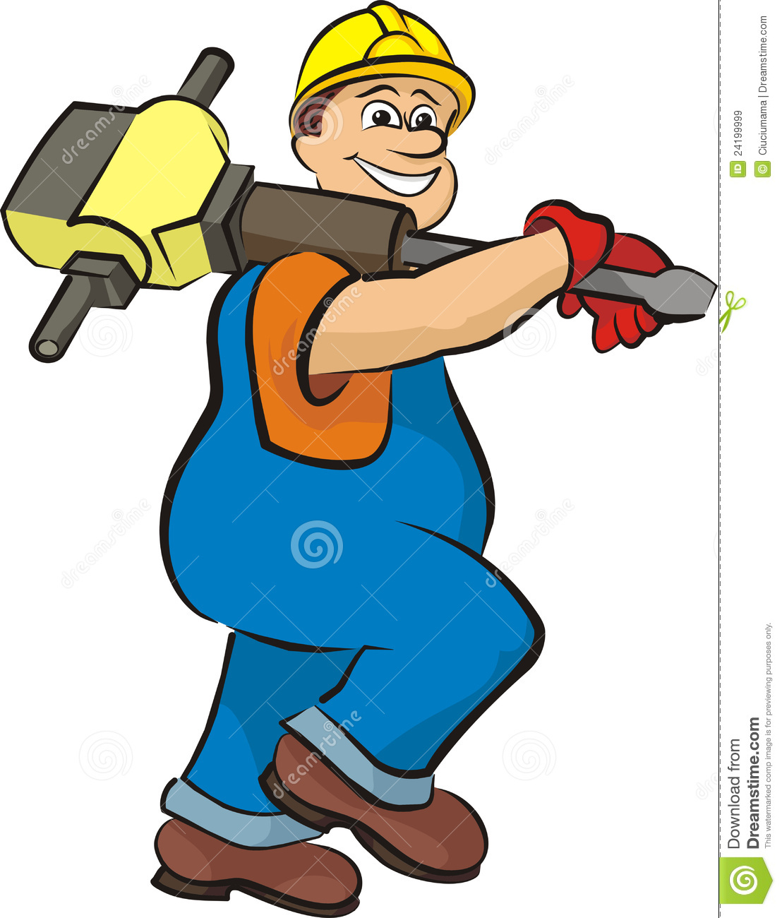 construction worker clipart