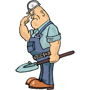 Cartoon Construction Worker Clipart.