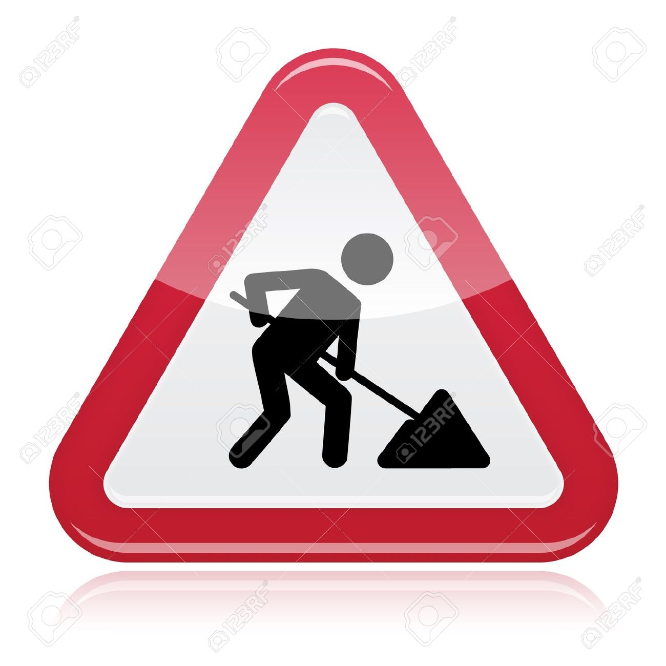 Road Works Sign, Under Construction Royalty Free Cliparts, Vectors.
