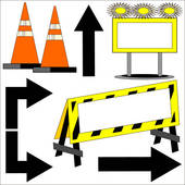 Construction zone Clipart Illustrations. 1,561 construction zone.