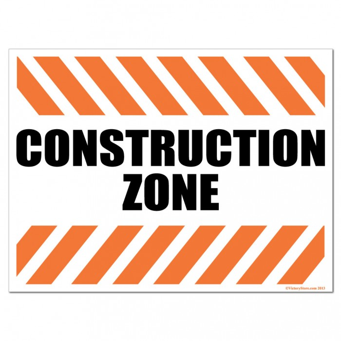 Construction Zone Clipart Signs