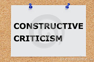 Constructive Criticism Stock Image.