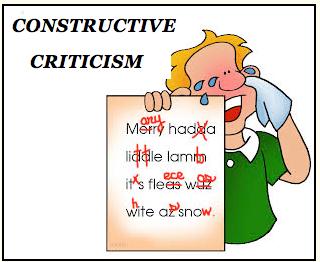 CONSTRUCTIVE CRITICISM.