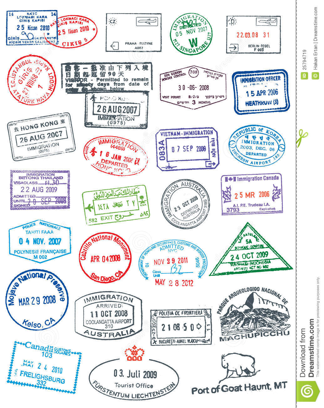 Passport cliparts.
