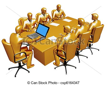 Clipart of Consultation of table.