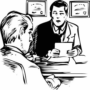 Medical Consultation Clip Art.