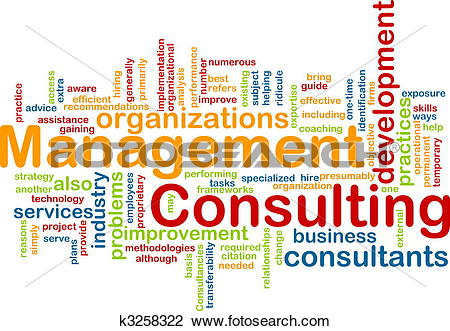 Clip Art of Management consulting word cloud k3258322.
