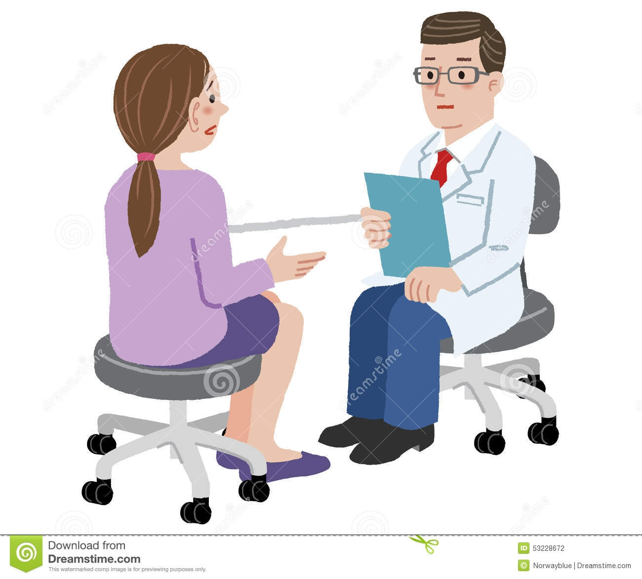 Consulting a doctor clipart.