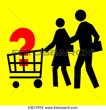 Stock Illustration of Consumer Basket k3217919.