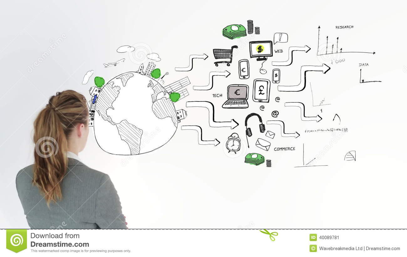 Animation Of Graphics Showing Global Consumer Behavior And.