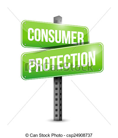 consumer protection road sign illustration design.