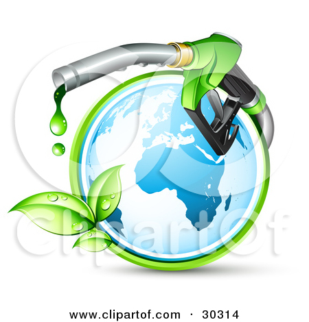 Clipart Illustration of Three Unmarked Barrels Of Oil, One With A.