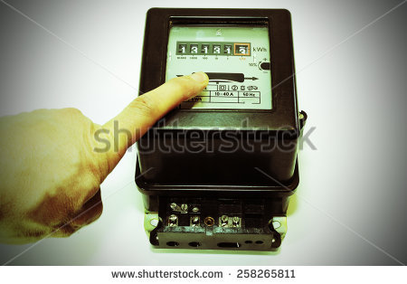 Consumption Counter Electricity Old Stock Photos, Royalty.