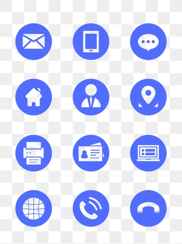 Contact Icon Png, Vector, PSD, and Clipart With Transparent.